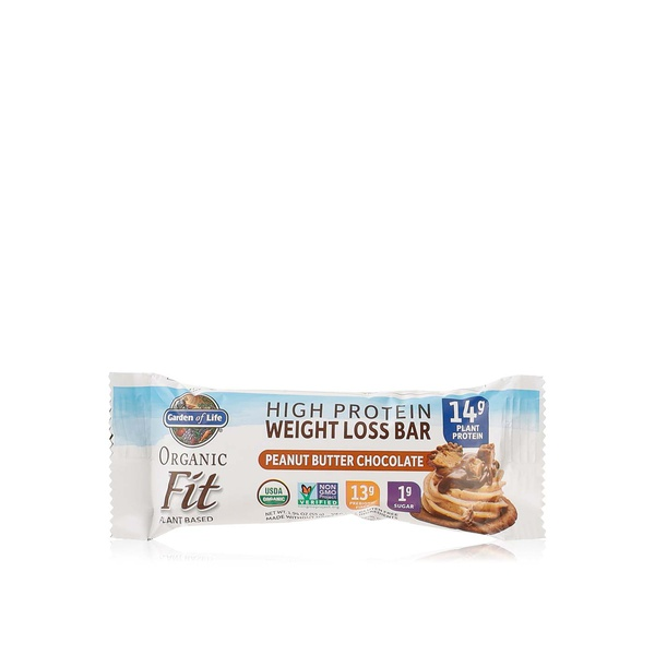Garden Of Life Organic Fit Peanut Butter Chocolate Bar 55g Spinneys Uae