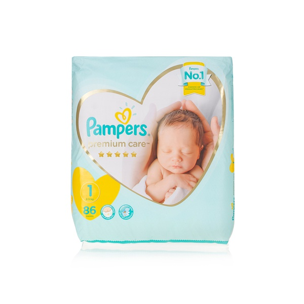 Pampers premium care nappies size 1 x86