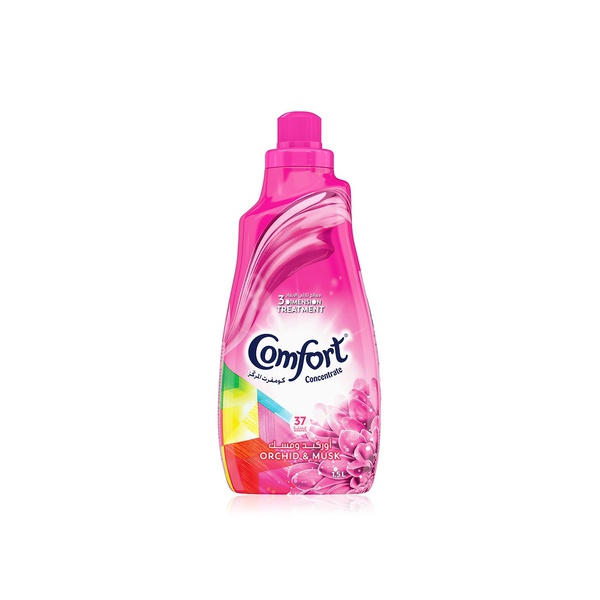 Comfort concentrated orchid & musk fabric softener 1.5ltr