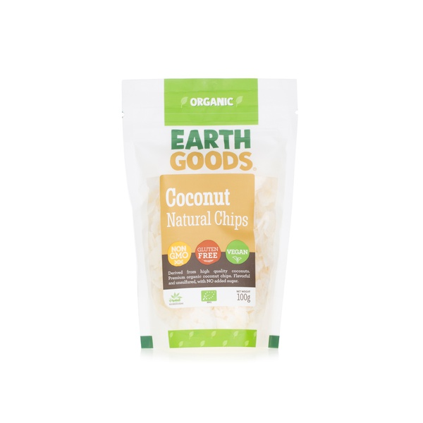 Earth Goods natural coconut chips 100g