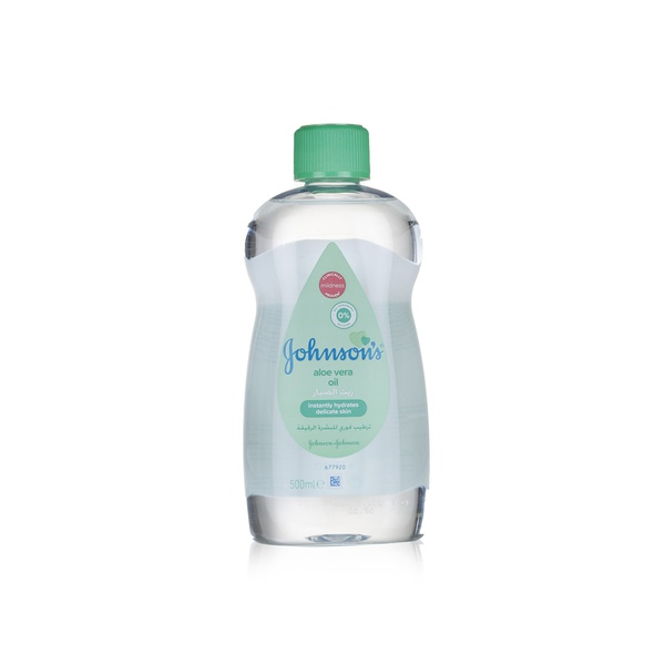 Johnsons baby oil with aloe vera 500ml