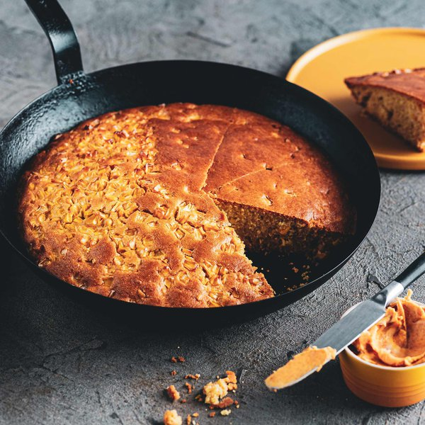 Cornbread on the grill with smoky paprika butter
