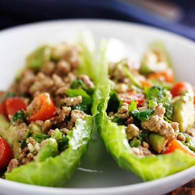 Clean eating chicken lettuce cups