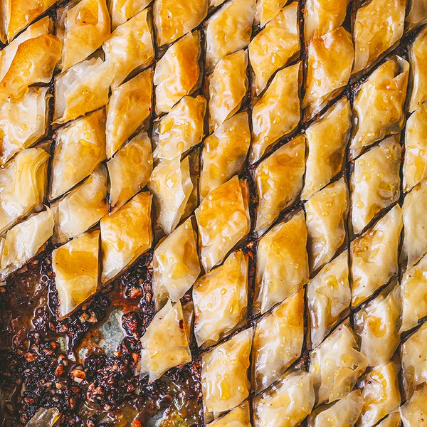 Chocolate chilli baklava