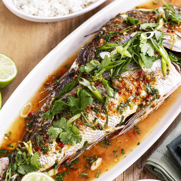 Asian style sea bass