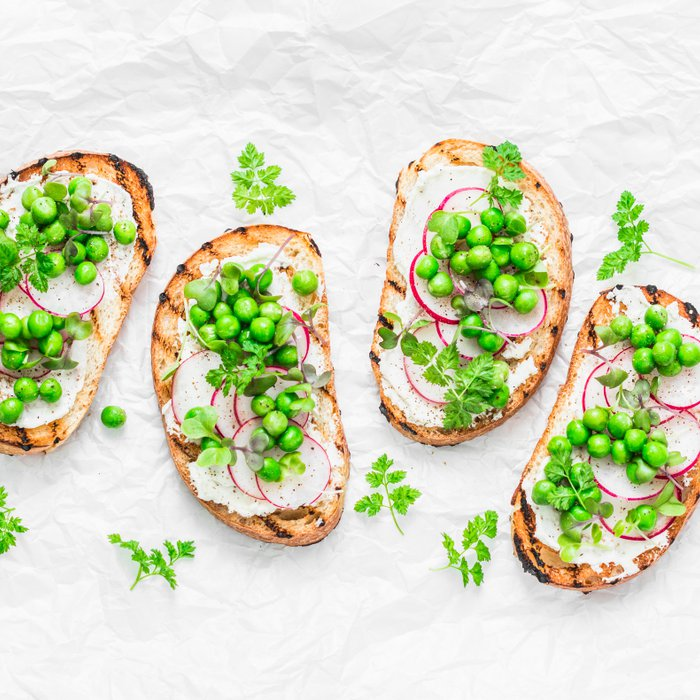 Herb cheese is wonderful on toasted bread, crackers or bagels. Spread thinly for a healthy snack or top with sliced radish and peas for a nutritious light meal.