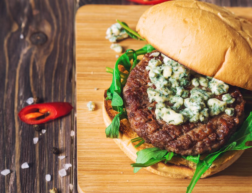 Crumble blue cheese on a burger and allow it to melt onto the warm patty for a taste sensation like no other.